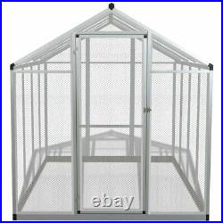 Outdoor Bird Aviary Birds House Parrot Canary Cage Walk in Aluminum Wire Mesh