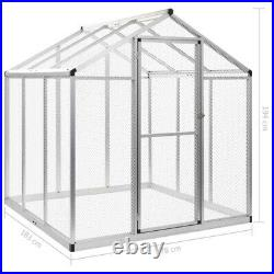 Outdoor Bird Aviary Birds House Parrot Canary Cage Walk in Aluminum Wire Mesh US