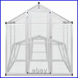 Outdoor Bird Aviary House Parrot Canary Animals Safe Cage Walk in Aluminum Mesh