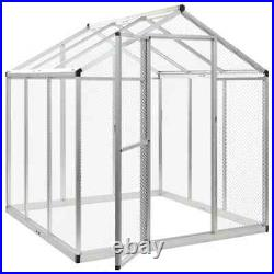 Outdoor Bird Aviary House Parrot Canary Cage Animals Safe Fence Playpen Metal