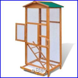 Outdoor Wooden Bird Aviary Bird Cage Indoor Small Birds Parrot Finches Canary