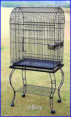 PARROT CAGE BIRD CAGES w STAND 906 Black