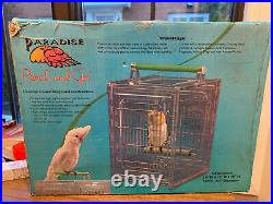 Paradise perch and go travel cage for birds 10x 12x15 open box Perch 3/4 Adjust