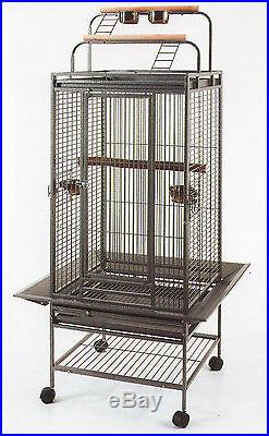 Parrot Bird Finch Cage Cockatiel Parakeet Ladder Iron House Wrought Iron Cage923