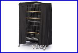 Parrot Cage Cover Bird Pet Sleep Large Black Breathable Lightweight Universal US