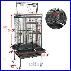 Parrot Pet Supplies Top Canary Parakeet 68 Bird Cage WithPerch Stand Play Large