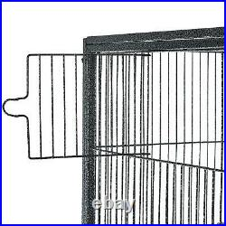 PawHut 65 Double Rolling Metal Bird Cage Feeder With Detachable Rolling Stand