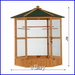 PawHut 65 Large Bird Cage Parrot Finch Macaw Cockatoo Play Pet Supplies House