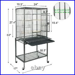 Pet Supplies Large Play Top Bird Parrot Finch Cage Macaw Cockatoo 53 Bird Cage