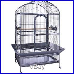 Prevue Hendryx Large Dometop Parrot Cage-Pewter PP-3163W Bird Cages NEW