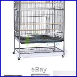 Prevue Hendryx Pet Products Wrought Iron Flight Cage Black Hammertone Large