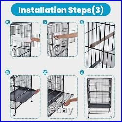 Prevue Pet Large Wrought Iron Flight Cage With Stand Black 31lx20dx52h Inches
