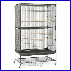 Prevue Pet Products Extra Large Wrought Iron Flight Cage Black Hammertone F050