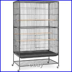Prevue Pet Products Extra Large Wrought Iron Flight Cage Black Hammertone F050 P