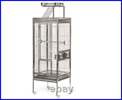 Prevue Pet Products Stainless Steel Playtop Bird Cage Playtop Small Pet Animal