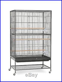 Prevue Pet Products Wrought Iron Flight Cage With Stand Large Sturdy Breeders
