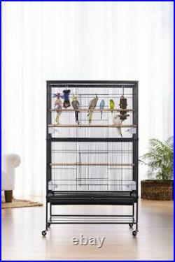 Prevue Pet Products Wrought Iron Flight Cage with Stand, Black Hammertone
