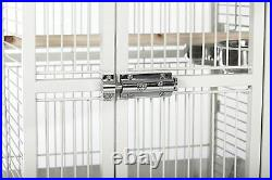 Prevue Pet Products Wrought Iron Select Bird Cage in Pewter White New