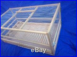 Quail Cage, Rodent, Small Animal / Wooden Quail Cage, Plexiglas, Slide Out Tray