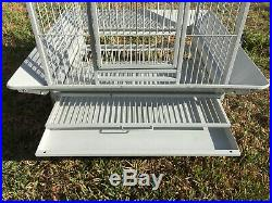 Rolling 68 Large Bird Cage For Conure Grey Parrots Cockatiels Green Cheek Stand