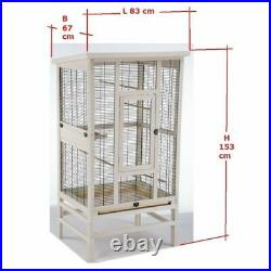 SMALL WOODEN Bird Aviary Cage Metal Mesh BUDGIES CANARIES Accessories Birds Home