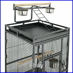 SUPER DEAL PRO 61''/ 68 2in1 Large Bird Cage with Rolling Stand Parrot Chin