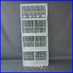 Seny 4 Breeding Bird Carrier Cage with Dividor for Parakeet Canary Finch