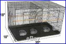 Seny Set of 3 Breeding Bird Carrier Cage with Central Dividor 30x18x18 on Stand