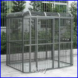 Seny Walk-in Bird Aviary Cage Parrot Macaw Reptile Dog H79xW86xD62 Flight Cage