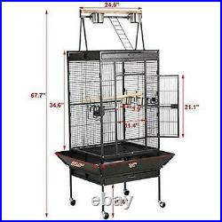Skroutz Big Parrot Cages Large Birds 68 Top Bird Cage for Parrot Finch Cockatoo