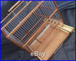 Slide Out Tray, Plexiglas // Hand Crafted Big Wooden Bird Cage
