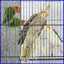 Stackable Wide Divided Breeder Bird Cage for Parakeet with Rolling Stand Used