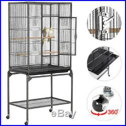 Standing Parrot Cockatiel Conure Parakeet Lovebirds Budgie Bird Cage with Stand