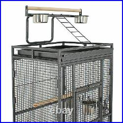 Style Bird 61 Cage Large Play Top Parrot Finch Cage Pet Supply Easy Assemble