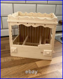 Two Bird Cages Stackable Mule, Finch, Canary Wooden