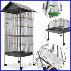 USA Bird Parrot Cage Canary Parakeet Cockatiel House with Wood Perches Food Cup