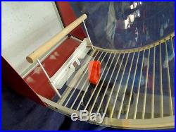 VINTAGE UNUSUAL GLASS SIDE DECO BIRD CAGE ARNOULD USA MADE