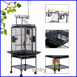 VIVOHOME 72 Large Bird Parrot Open Play Top Cage Cockatiel Conure Stand Ladder