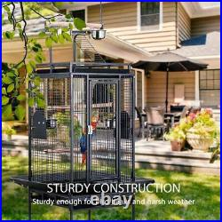 VIVOHOME Large Bird Parrot Open Play Top Cage Cockatiel Conure Stand Ladder 72