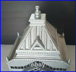 Vintage Cathedral Wooden Bird Cage Display Silver Painted