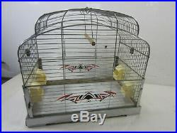 Vintage GenyKage Made in England Bird Cage with Stand