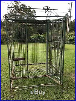 Vintage Koloa Kavern Bird Cage with Stand 32 X 23 X 66