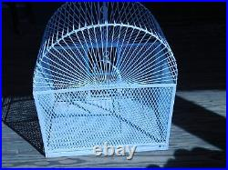 Vintage Strong Metal Large Bird Cage 23 3/4 H x 21 W x 14 D