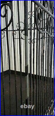 Vintage Wire Metal Tall Large Square Bird Cage with Chain