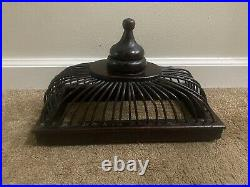 Vintage Wooden Bird Cages Bamboo Cage Birdcage 21 H X 15.5 L X 9 W