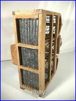 Vtg Wooden Birdcage Victorian 19 Large Domed Cathedral Taj Mahal Style WithDoor