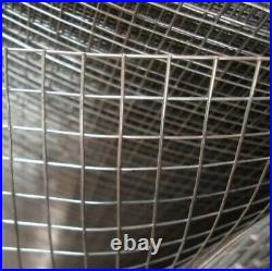 WELDED WIRE MESH 1/2 x 1/2 x 36 19g Square Aviary Poultry Bird Cage Garden