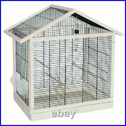 Wooden Bird Cage Accessories Budgies Canaries Elegant High Quality Modern