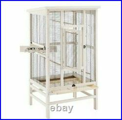 Wooden Bird Cage Aviary Budgies Canaries Small Birds Pet Stylish Wood frame NEW