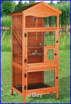 Wooden Bird Cage Birdhouse Wood Aviary Extra Large Enclosure Trixie Pet